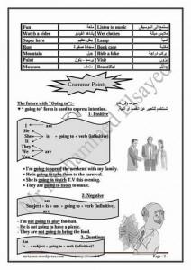 مذكره تاسيس في اللغه الانجليزيه للمرحله الاعداديه