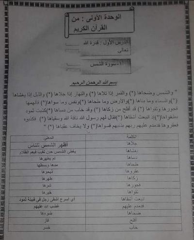 المراجعة النهائية للتربية الاسلامية للصف الثاني الابتدائي كامله