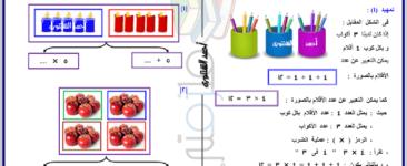 مذكرة في الرياضيات للصف الثاني الابتدائي الفصل الدراسي الثاني 2019